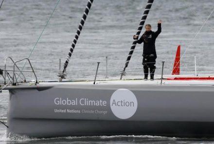 Greta inicia su travesía transatlántica a Nueva York en un velero cero emisiones