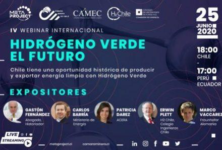 Cámara Minera de Chile realizó Webinar sobre Hidrógeno Verde con la participación de Patricia Darez