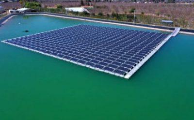 Inauguran la planta de generación fotovoltaica flotante más grande de Chile
